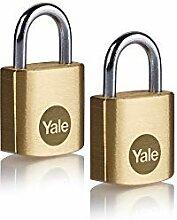 Yale Y110B/20/111/2 - Lot de 2 cadenas laiton 20