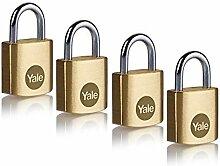 Yale Y110B/20/111/4 - Lot de 4 cadenas laiton 20