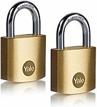 Yale Y110B/30/115/2 - Lot de 2 cadenas laiton 30