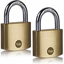Yale Y110B/40/122/2 - Lot de 2 cadenas laiton
