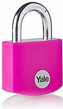 Yale YE3B/32/116/1/P - Cadenas en aluminium rose
