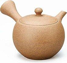 Yamakiikai Théière japonaise Kyusu en céramique