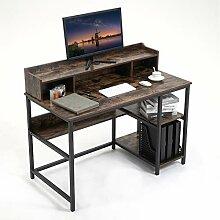 YAMASORO Petit bureau avec étagère - Avec