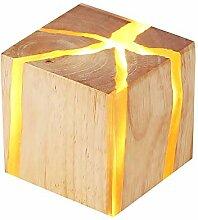 Yang1mn Personnalité Créative Moderne Bois Lampe