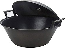 YANRUI Wok Pot en fonte Épaissie Earc Pot De