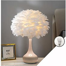 YAOXI Lampe De Table Plume Rose pour Lounge,