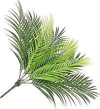 Yardwe 2Pcs Faux Verdure Tiges Plante Artificielle