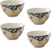 Yardwe 4 Pièces Japonais en Céramique Bol en