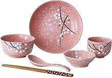 Yardwe 6Pcs Vaisselle en Céramique Mis en Style