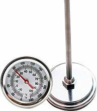 Yardwe Thermomètre de sol en acier inoxydable de