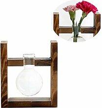 Yardwe Vase à Ampoule de Jardinière en Verre de