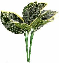YARNOW 6 Pcs Artificielle Palmier Feuilles Vertes
