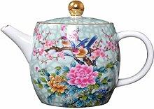 YARNOW À Thé en Céramique Pot Chinois Fleur
