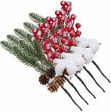 YARNOW Cueillette de Baies de Noël Branches de