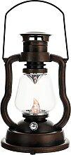 YARNOW Huile Brûlante Lanterne Vintage LED Lampe