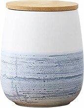 YARNOW Pot de Rangement en Céramique avec