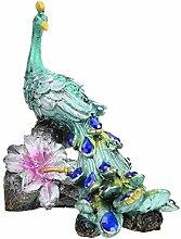 YARNOW Résine Paon Figurines Miniature Paon