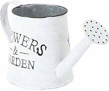 YARNOW Rustique Galvanisé Vase à Fleur en Métal