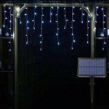 YASENN Guirlande lumineuse solaire 200 LED 6 m