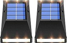 YCFxcy 2pcs LED Lampes Solaires Appliques Murales
