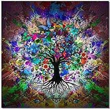 YCHND Arbre Coloré Affiches Et Plante Abstraite
