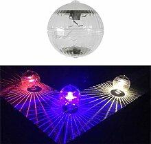 Ycncixwd Balle lumineuse solaire à LED à