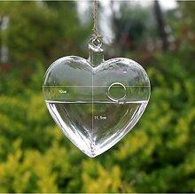 Yeah67886 Boule en verre à suspendre Motif cœur