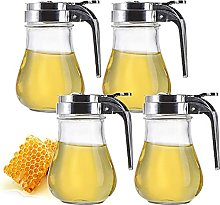 Yesland Lot de 4 distributeurs de miel en verre