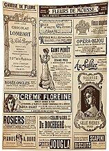 Yeuss Paris Nappe vintage Vieux historique Journal