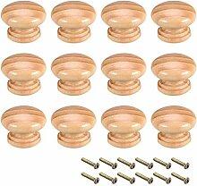 YeVhear boutons en bois ronds, 12Pcs 35mm Dia