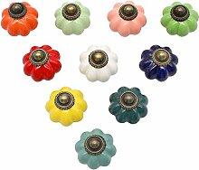 YGSAT Lot de 10 boutons de porte vintage en