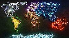 YHHAW Modèle de Carte du Monde Abstrait