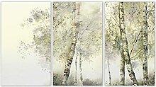 YHHZW Plante scandinave forêt Affiche Nordique 3
