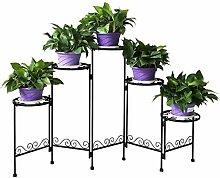 YIBANG-DIANZI 5 Tier Métal Plante Jardinière Pot
