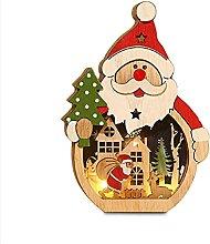 Yihaifu Christmas Table Ornements en Bois Santa