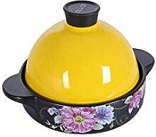 YILIAN Pot en céramique Pot à soupe solide Pot