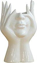 YILING Vase De Fleur Blanc Céramique Vases