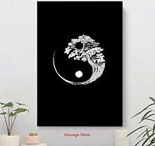Yin Yang – arbre bonsaï bouddhiste japonais,