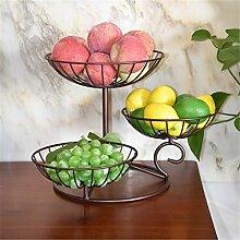 Yingm Cadeau Exquis Plaque de Fruits à Trois