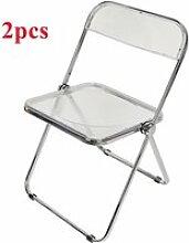 YINQ 2Pcs Chaise Pliante Transparente Blanc - Avec