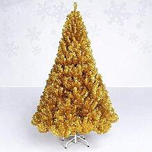 YIQQWS Sapin de Noël Arbre de Noël doré