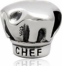 YiRong Jewelry Breloque en forme de toque de chef