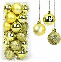 Yisscen Boules de Noël Décorations d'arbre,