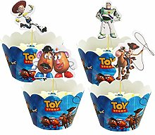 Yisscen Cupcake Toppers et Wrappers de Histoire de