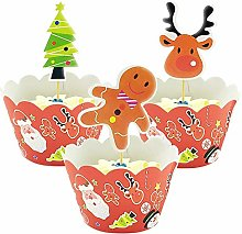 Yisscen Cupcake Toppers et Wrappers de Pain