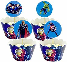 Yisscen Cupcake Toppers et Wrappers de