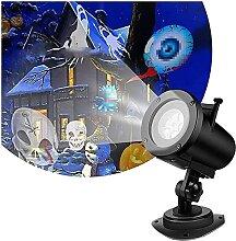 YLFC Étanche Noël Projecteur Lumières avec 12