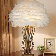 Ylight Lampe De Table Plume Abat-Jour Plume Fait