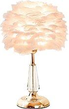 Ylight Lampe De Table Plume Créative Lampe De