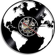 yltian Sauvez la Terre Carte du Monde Horloge